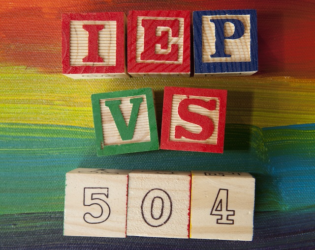 504 Plan VS. IEP (Individualized Education Plan)